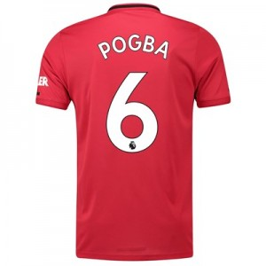 Manchester United Home Shirt 2019 - 20 with Pogba 6 printing