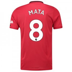 Manchester United Home Shirt 2019 - 20 with Mata 8 printing
