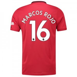 Manchester United Home Shirt 2019 - 20 with Marcos Rojo 16 printing