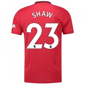 Manchester United Home Shirt 2019 - 20 with Shaw 23 printing