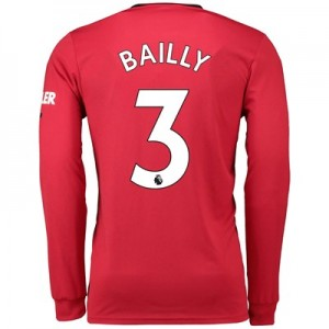 Manchester United Home Shirt 2019 - 20 - Long Sleeve with Bailly 3 printing