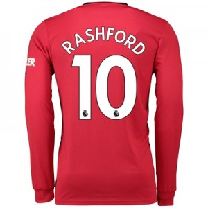 Manchester United Home Shirt 2019 - 20 - Long Sleeve with Rashford 10 printing