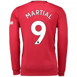 Manchester United Home Shirt 2019 - 20 - Long Sleeve with Martial 9 printing