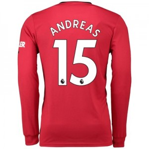 Manchester United Home Shirt 2019 - 20 - Long Sleeve with Andreas 15 printing