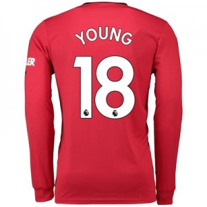 Manchester United Home Shirt 2019 - 20 - Long Sleeve with Young 18 printing