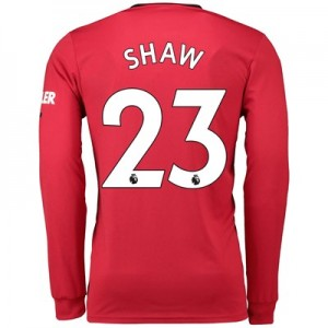 Manchester United Home Shirt 2019 - 20 - Long Sleeve with Shaw 23 printing