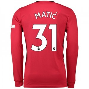 Manchester United Home Shirt 2019 - 20 - Long Sleeve with Matic 31 printing