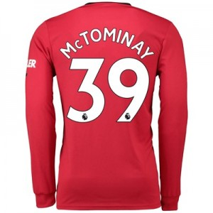 Manchester United Home Shirt 2019 - 20 - Long Sleeve with McTominay 39 printing