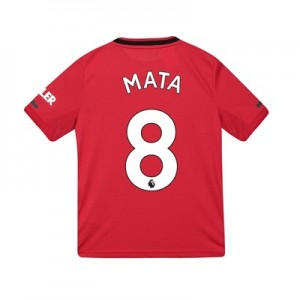Manchester United Home Shirt 2019 - 20 - Kids with Mata 8 printing