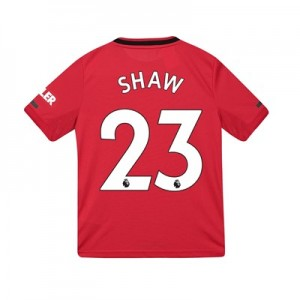 Manchester United Home Shirt 2019 - 20 - Kids with Shaw 23 printing