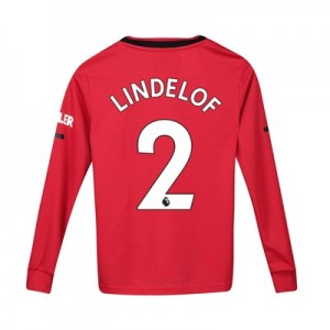 Manchester United Home Shirt 2019 - 20 - Kids - Long Sleeve with Lindelof 2 printing