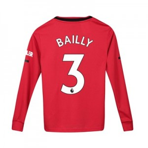 Manchester United Home Shirt 2019 - 20 - Kids - Long Sleeve with Bailly 3 printing