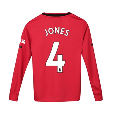 Manchester United Home Shirt 2019 - 20 - Kids - Long Sleeve with Jones 4 printing
