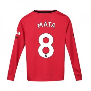 Manchester United Home Shirt 2019 - 20 - Kids - Long Sleeve with Mata 8 printing