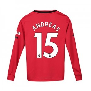 Manchester United Home Shirt 2019 - 20 - Kids - Long Sleeve with Andreas 15 printing