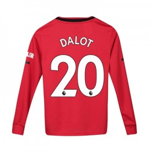 Manchester United Home Shirt 2019 - 20 - Kids - Long Sleeve with Dalot 20 printing