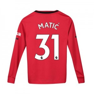 Manchester United Home Shirt 2019 - 20 - Kids - Long Sleeve with Matic 31 printing