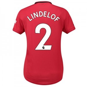 Manchester United Home Shirt 2019 - 20 - Womens with Lindelof 2 printing