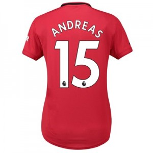 Manchester United Home Shirt 2019 - 20 - Womens with Andreas 15 printing