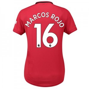 Manchester United Home Shirt 2019 - 20 - Womens with Marcos Rojo 16 printing