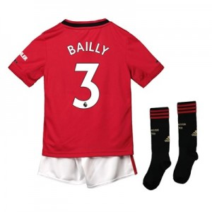 Manchester United Home Mini Kit 2019 - 20 with Bailly 3 printing