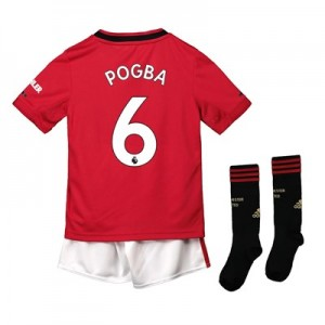 Manchester United Home Mini Kit 2019 - 20 with Pogba 6 printing