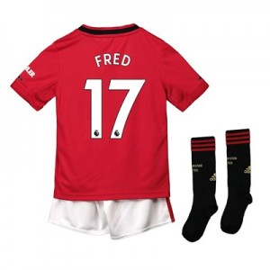 Manchester United Home Mini Kit 2019 - 20 with Fred 17 printing