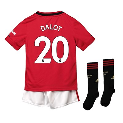 Manchester United Home Mini Kit 2019 - 20 with Dalot 20 printing
