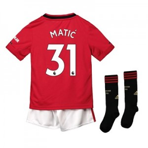 Manchester United Home Mini Kit 2019 - 20 with Matic 31 printing
