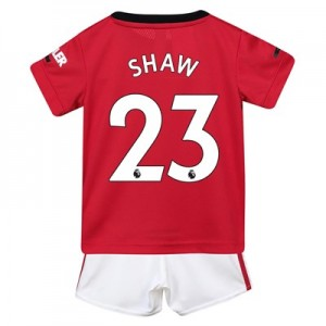 Manchester United Home Baby Kit 2019 - 20 with Shaw 23 printing