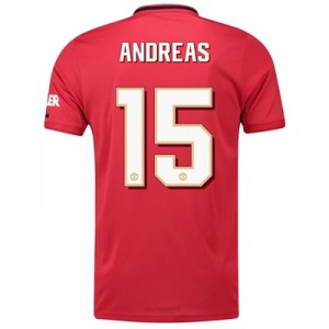 Manchester United Cup Home Shirt 2019 - 20 with Andreas 15 printing