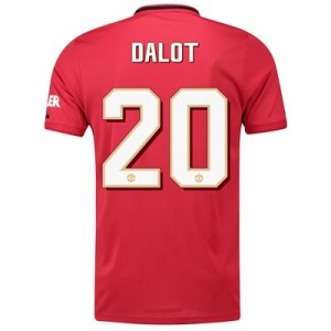 Manchester United Cup Home Shirt 2019 - 20 with Dalot 20 printing