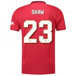 Manchester United Cup Home Shirt 2019 - 20 with Shaw 23 printing