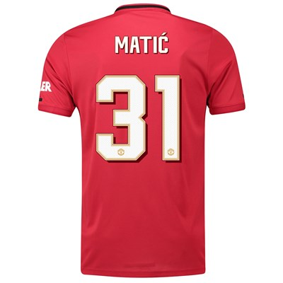Manchester United Cup Home Shirt 2019 - 20 with Matic 31 printing