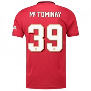 Manchester United Cup Home Shirt 2019 - 20 with McTominay 39 printing