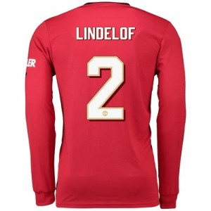 Manchester United Cup Home Shirt 2019 - 20 - Long Sleeve with Lindelof 2 printing