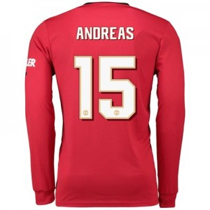 Manchester United Cup Home Shirt 2019 - 20 - Long Sleeve with Andreas 15 printing
