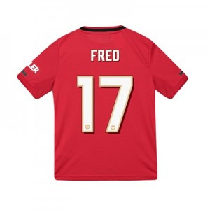 Manchester United Cup Home Shirt 2019 - 20 - Kids with Fred 17 printing
