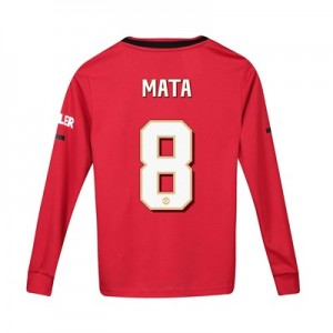 Manchester United Cup Home Shirt 2019 - 20 - Kids - Long Sleeve with Mata 8 printing