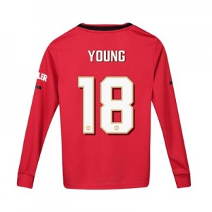 Manchester United Cup Home Shirt 2019 - 20 - Kids - Long Sleeve with Young 18 printing