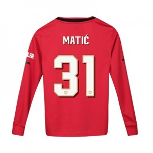 Manchester United Cup Home Shirt 2019 - 20 - Kids - Long Sleeve with Matic 31 printing