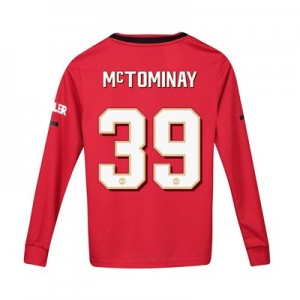 Manchester United Cup Home Shirt 2019 - 20 - Kids - Long Sleeve with McTominay 39 printing