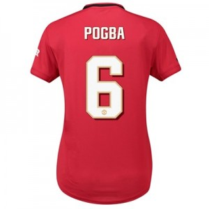 Manchester United Cup Home Shirt 2019 - 20 - Womens with Pogba 6 printing