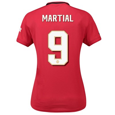 Manchester United Cup Home Shirt 2019 - 20 - Womens with Martial 9 printing