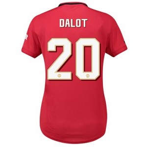 Manchester United Cup Home Shirt 2019 - 20 - Womens with Dalot 20 printing