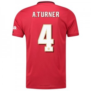 Manchester United Cup Home Shirt 2019 - 20 with A.Turner 4 printing