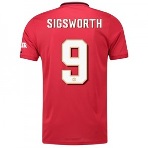 Manchester United Cup Home Shirt 2019 - 20 with Sigsworth 9 printing
