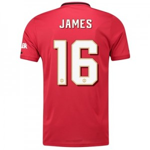 Manchester United Cup Home Shirt 2019 - 20 with James 16 printing