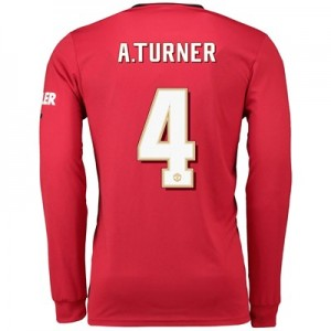 Manchester United Cup Home Shirt 2019 - 20 - Long Sleeve with A.Turner 4 printing