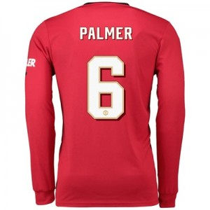 Manchester United Cup Home Shirt 2019 - 20 - Long Sleeve with Palmer 6 printing